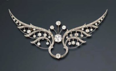 BROCHE BELLE EPOQUE DIAMANTS