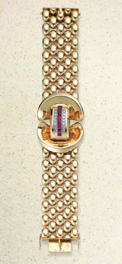 MONTRE DE DAME RUBIS SYNTHETIQ