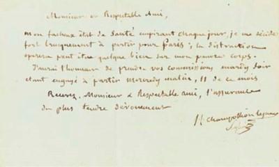 CHAMPOLLION, Jean-François, di