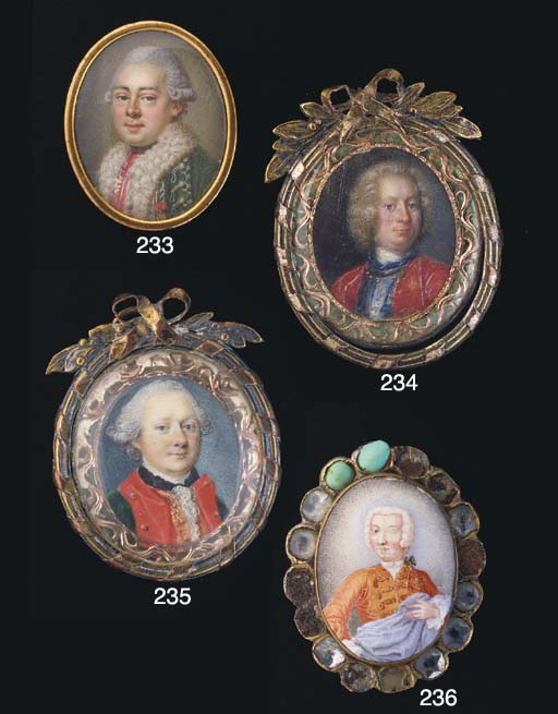 MINIATURE D'EPOQUE LOUIS XV