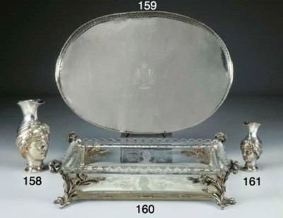 Centro tavola in argento dorat