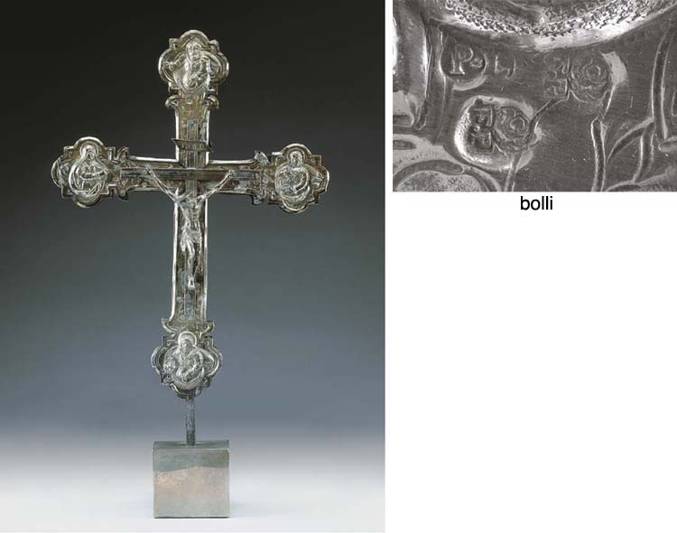 Interessante croce astile in a