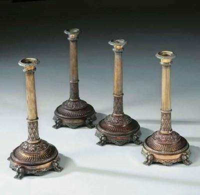 Quattro candelieri vittoriani