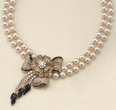 Collana in perle coltivate, br