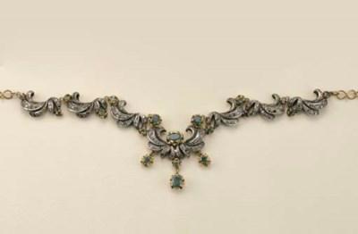 Collana in oro e argento con s