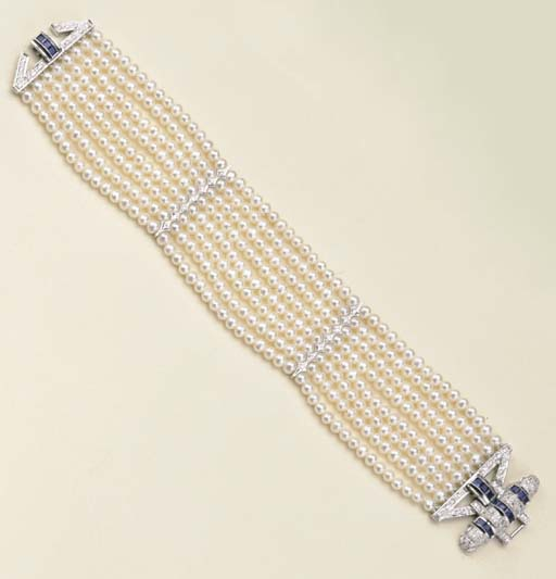 Bracciale in perle coltivate,