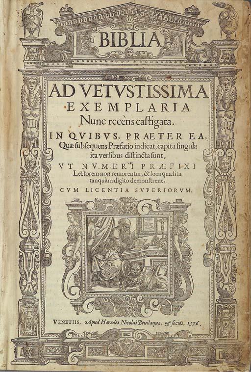 BIBBIA. Biblia ad vetustissima
