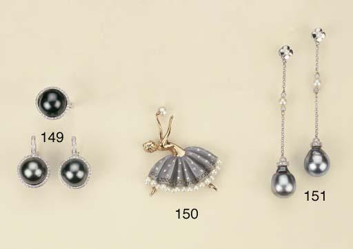 Spilla in oro con perle coltiv