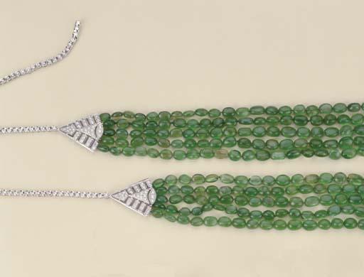 Collana in smeraldi e brillant