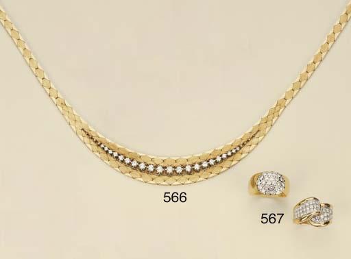 Collana in oro e brillanti, di