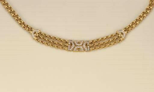Collana in oro e brillanti