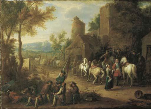 Seguace di Jan van Huchtenburg