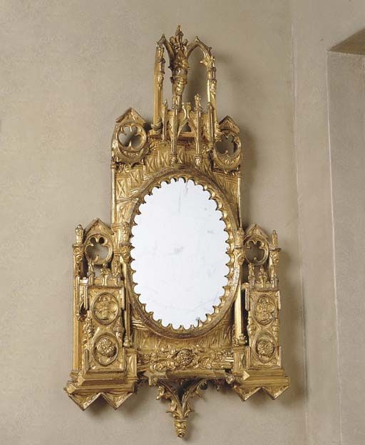 A 19TH CENTURY GILT COMPOSITIO