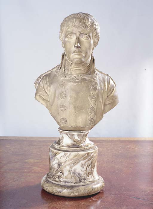 A PLASTER BUST OF THE YOUNG NA
