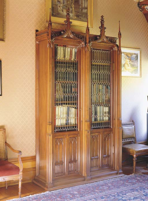 A LARGE FRENCH WALNUT LIBRARY