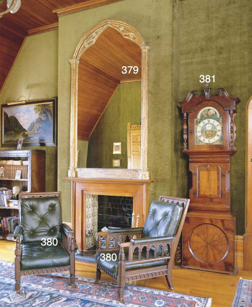 A VICTORIAN GOTHIC OVERMANTEL