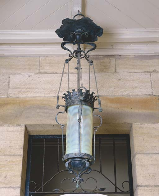 AN ART NOUVEAU PATINATED COPPE