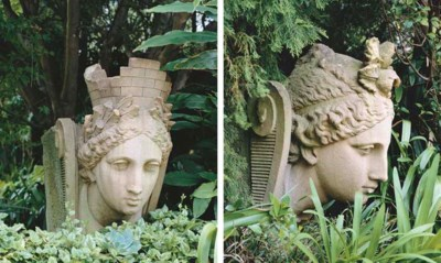 A PAIR OF VICTORIAN SANDSTONE