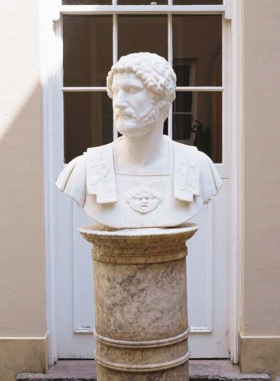 A MARBLE BUST OF THE ROMAN EMP