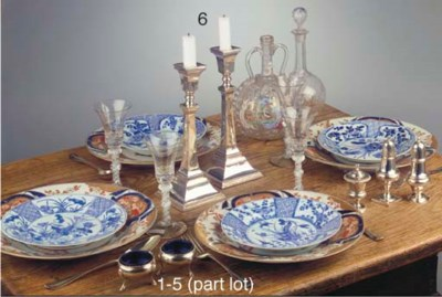 A set of six Japanese Imari di