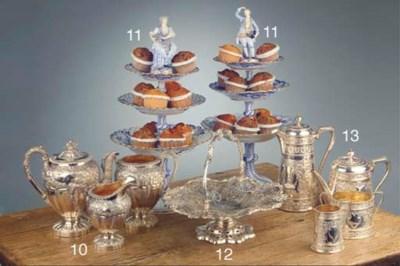 An English silver cake basket
