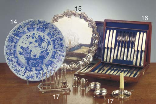 (14) An assorted lot of Chinese blue and white plates