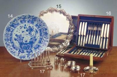 Nine various silver items