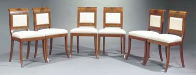 A set of six mahogany dining-c