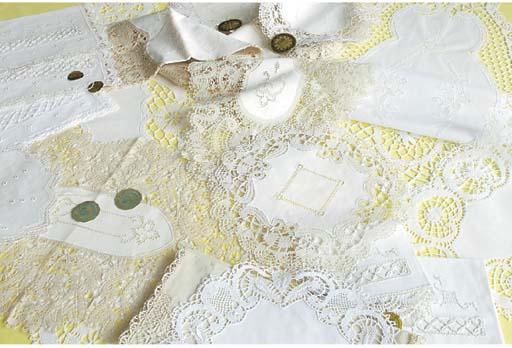 (34)A collection of Harzgebirgische Kloeppelarbeit openworked and embroidered linen covers
