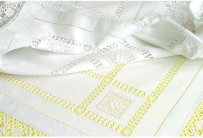 (2) A linen tablecloth
