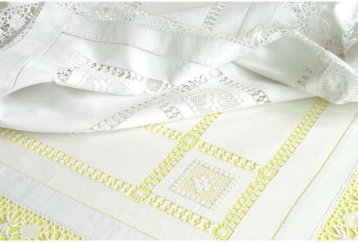 (2) A linen tablecloth