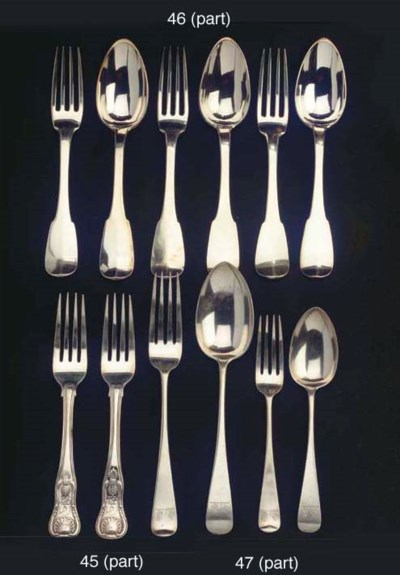 Six Irish silver table spoons