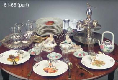 Twelve Dutch silver-gilt desse