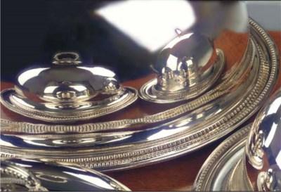 Three English silver-plated di