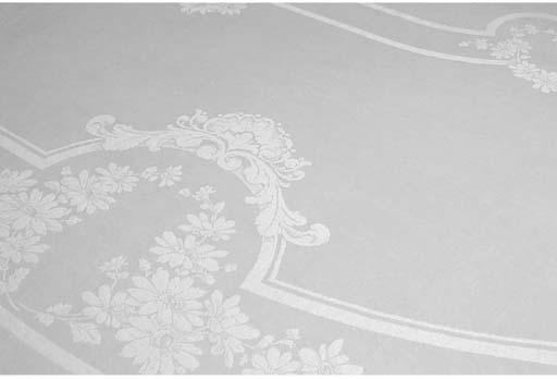 a large damask linen tablecloth