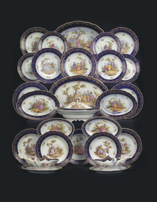 (51) A Meissen porcelain outside-decorated dinner service