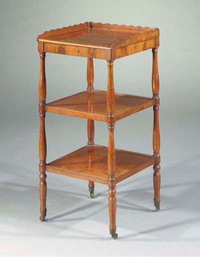 A French mahogany etagere