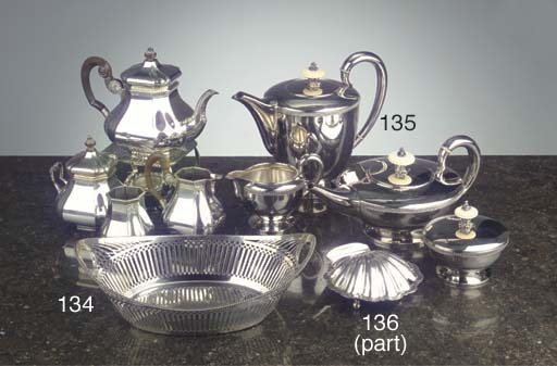 Five various English silver objects
