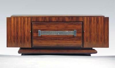 A rosewood veneered sideboard