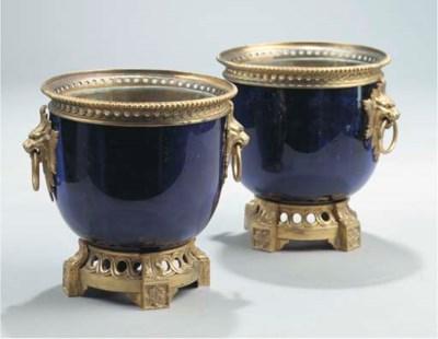 A pair of gilt-metal mounted b
