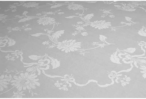 Two damask linen tableloths