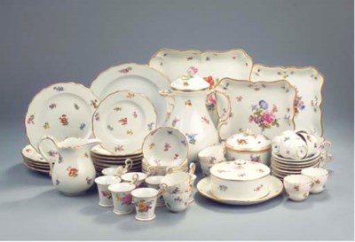 (63) A collection of Meissen p