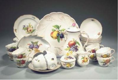 (43)A Meissen porcelain fruit