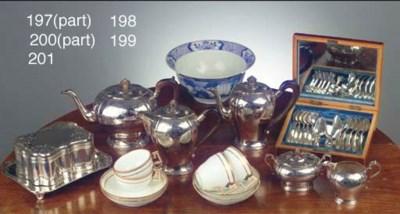 (6) A five-piece Dutch silver
