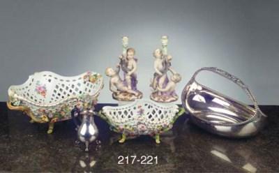 Two German silver fruit basket