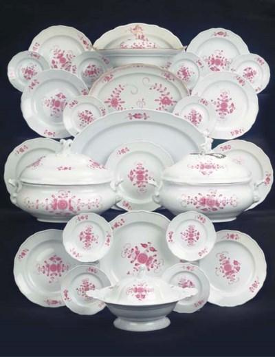 (82) A Meissen porcelain assem