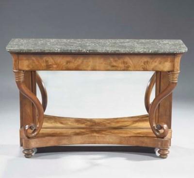 A Flemish mahogany console