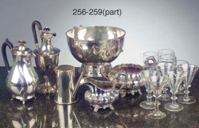 An English silver punch-bowl