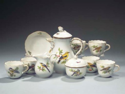 (17) A Meissen porcelain ornit