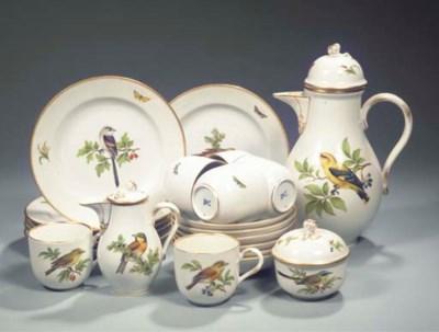 (24) A Meissen porcelain ornit